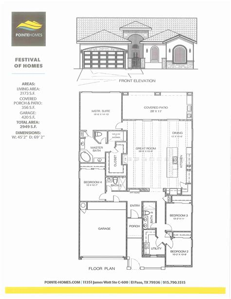 pointe homes el paso floor plans