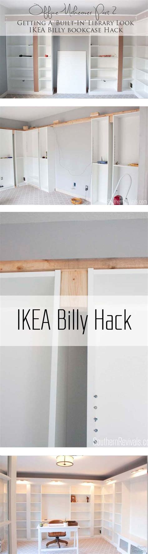 ikea hacks pinterest billy bookcases ikea hacks and library home on pinterest