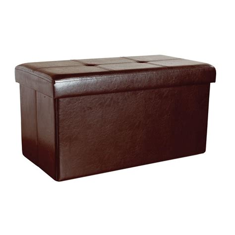 Simplify Storage Ottoman Simplify Chocolate Storage Ottoman F 0630 Choco The Home Depot