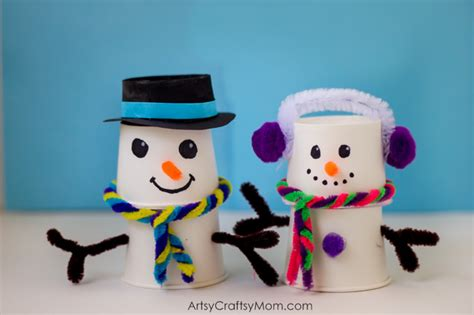Paper Snowman Craft - absolutely adorable paper cup snowman craft for