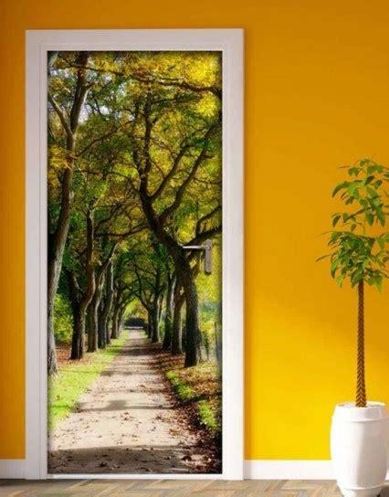 poster per porte decorare una porta con la carta da parati foto 23 40