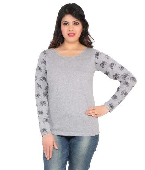 Sweater Discovery Leo Cloth buy leo clothing gray cotton tees at best prices in india snapdeal