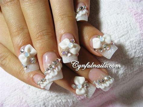 Wedding Nail by Cynful Nails Bridal Nails