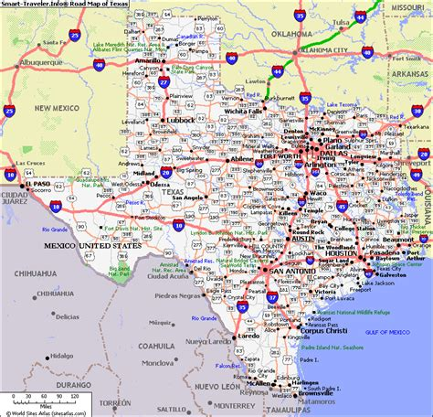 map of texas including cities map of texas photo map pictures