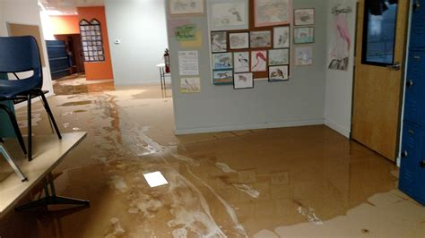 flooded room flood recovery underway how you can help artspace charter school