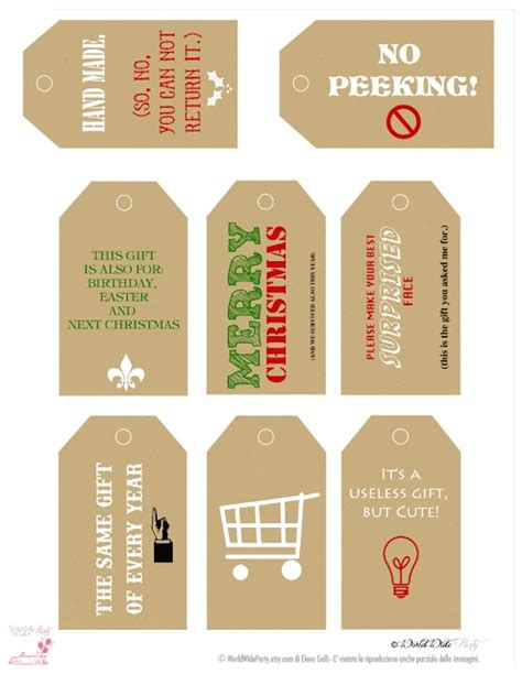 printable christmas tags funny gift tags free printables templates pinterest