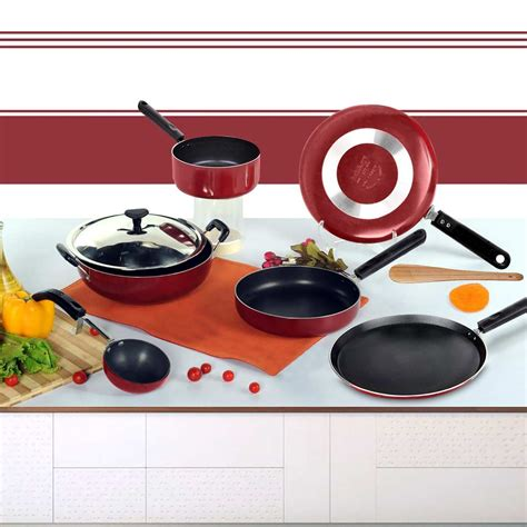Panci Teflon Cookware Set 7pcs buy brilliant 7pcs nonstick cookware set at best price in india on naaptol