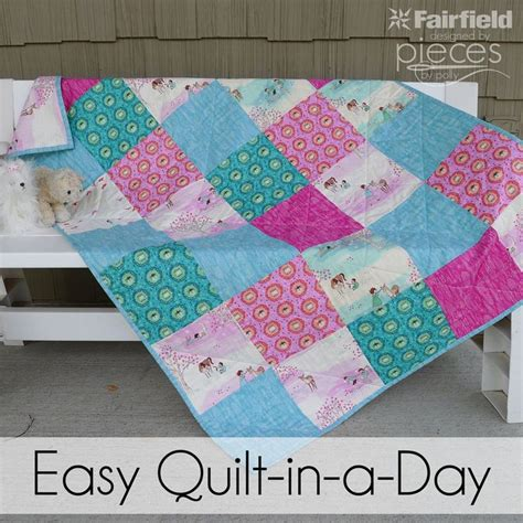 How To Patchwork For Beginners - sometimes you need a quilt on really notice so you