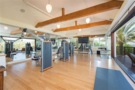 celebrity home gyms celebrity owned estate 5 495 000 pricey pads