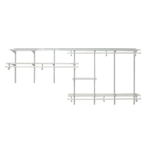 Closetmaid White Wire Shelving by Closetmaid Shelftrack 7 Ft 10 Ft White Wire Closet