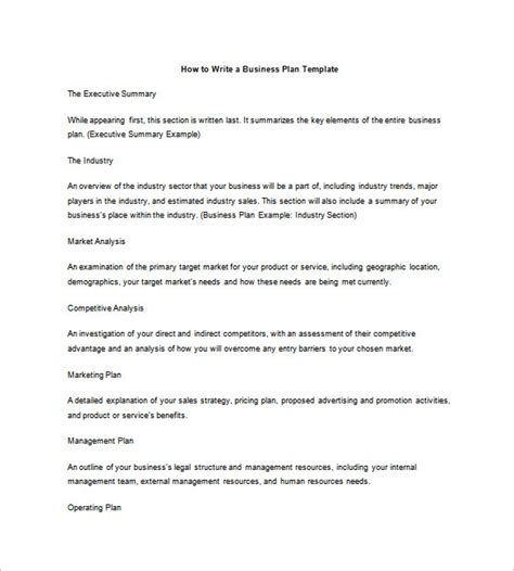 business plan outline template 17 free word excel pdf