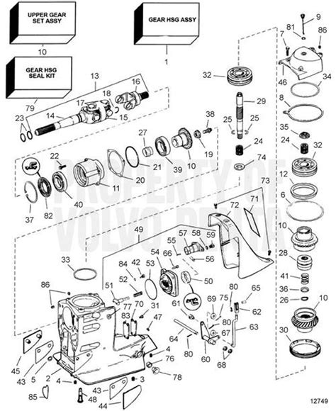 Volvo Penta Parts Dealer Volvo Penta Exploded View Schematic Gear Unit Sx
