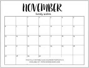 Editable Monthly Calendar Template by Free Editable Monthly Calendars 2016 In Jpeg Format