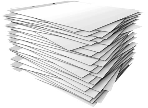 Transparent Craft Paper - stack of papers clipart 28