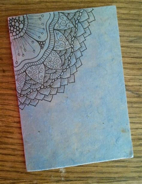 tattoo rice paper diy notebook in rice paper zentangle design my notebook