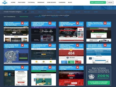 Dozens Of Landing Page And Minisite Templates To Help Grow Your Busin Leadpages Template Marketplace