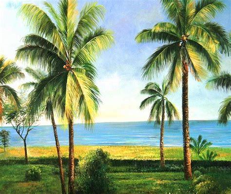 imagenes naturales simples pinturas al oleo de palmas car interior design