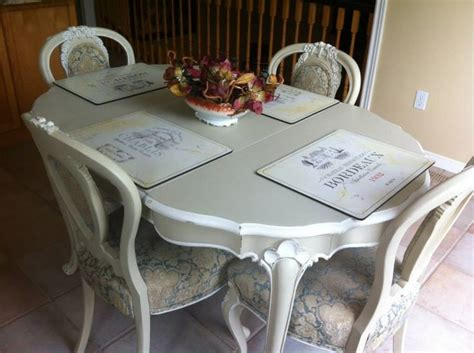 chalk paint kitchen table and chairs pin by the painted bench on furniture