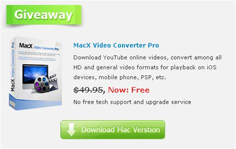 Free License Giveaway - macx video converter pro free download until sep 20 2011