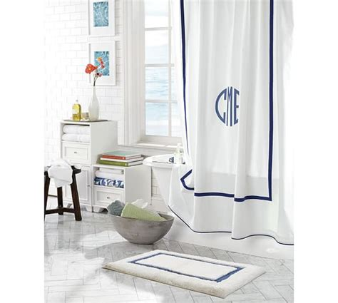 monogrammed shower curtain pottery barn morgan shower curtain pottery barn