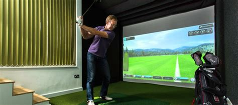 Golf Simulator Ceiling Height by Shedworking Garden Studio With Its Own Golf Course