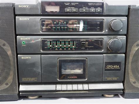 cassette cd player sony cfd 454 am fm cassette cd player detachable speaker