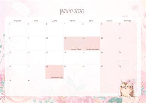 calendario mensal corujinha junho  fazendo  nossa festa