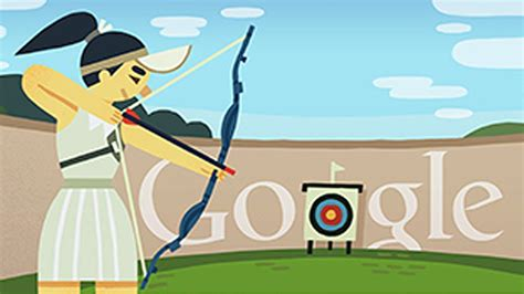 doodle olympic 2012 archery doodle