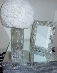 5x7 silver bling faux rhinestone wedding frame sweetheart