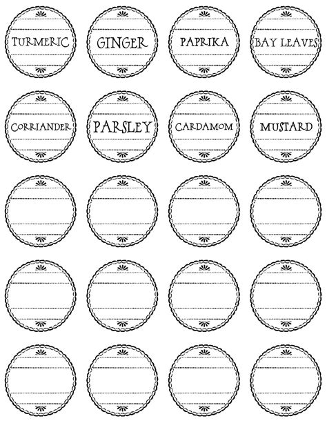 to a pretty life pretty spice labels free printable
