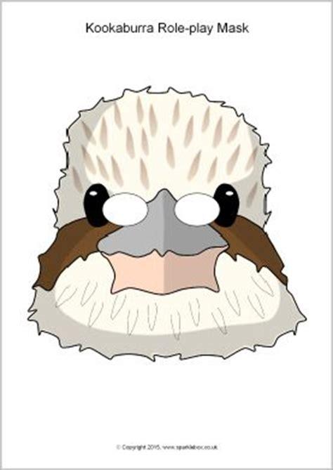 printable echidna mask kookaburra role play masks sb11184 sparklebox