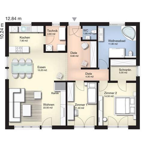 wohnung 60 m2 grundriss grundriss terra 107 bungalow grundrisse