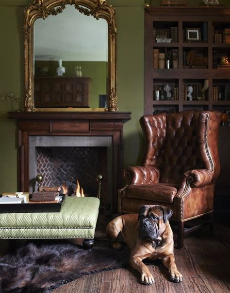 traditional english home decor a traditional masculine southern study annie dog and