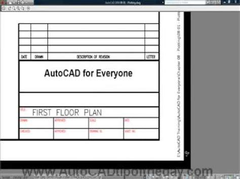 autocad plot stamp youtube