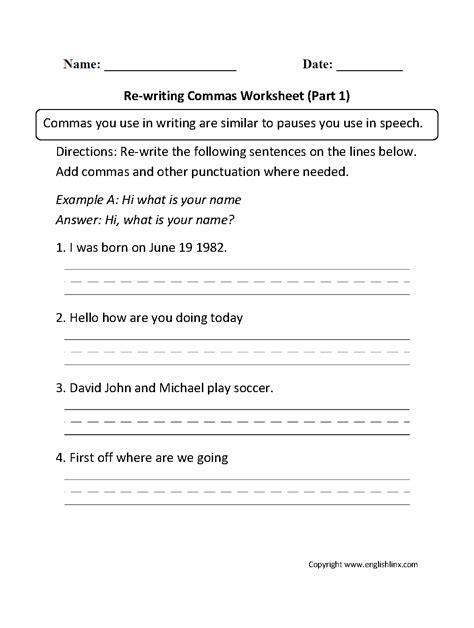 Commas In A Series Worksheets by Uncategorized Comma Usage Worksheet Klimttreeoflife