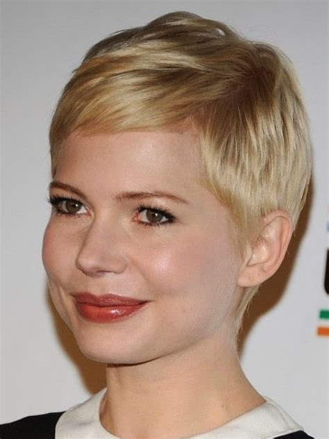 very short hairstyles for round face very short haircuts for women with round faces short