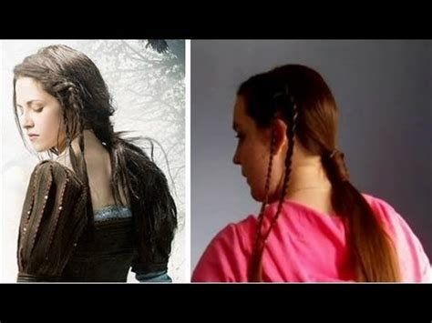 snow white and the huntsman hairstyle hair tutoral braid accented ponytail inspired by snow
