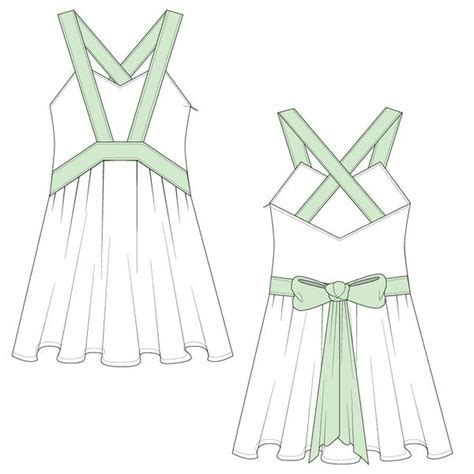 dress template for adobe illustrator women s babydoll dress fashion flat template illustrator
