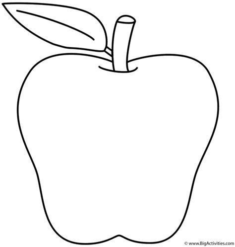 apple coloring page back to school