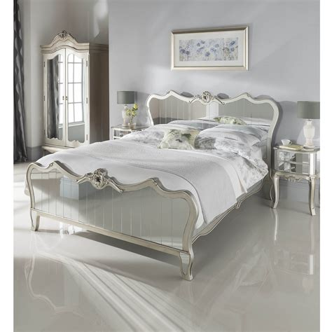 mirrored glass bedroom furniture kingsize argente mirrored bed glass furniture online