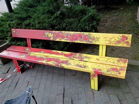 in the panchina le panchine d autore realizzate dagli artisti mau