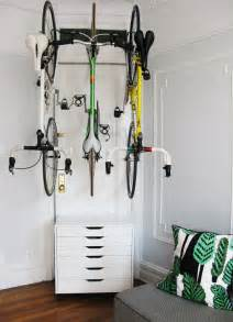 Bike Storage Inside Apartment For The Of Bikes At Home Bike Storage Using Ikea