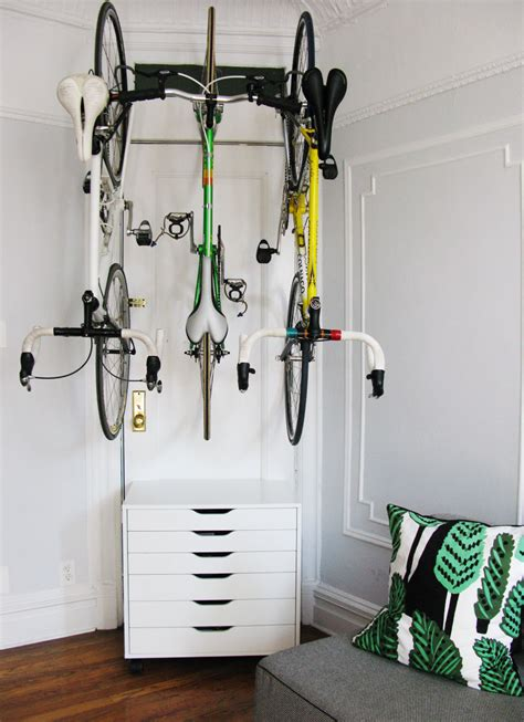 bike storage for small apartments for the love of bikes at home bike storage using ikea