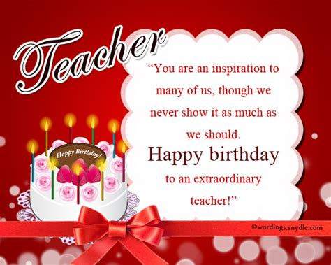 Happy Birthday Wishes To Lecturer Birthday Wishes For Teacher Wordings And Messages
