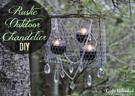 Outdoor Chandelier Diy Outdoor Chandelier Diy Crafts Unleashed