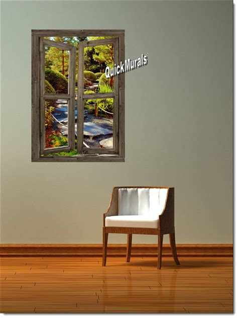 canvas wall murals path cabin window 1 peel stick canvas wall mural