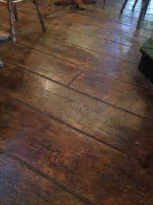 Hardwood Floor On Concrete Sted Concrete Floors Future Home Idea