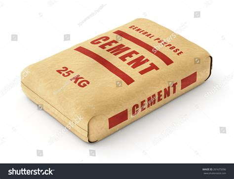 Ein Sack Zement by Cement Bag Paper Sack Isolated On Stock Illustration