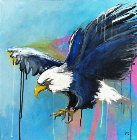 acrylic painting eagle painting acrylic on canvas quot eagle 1 quot artful