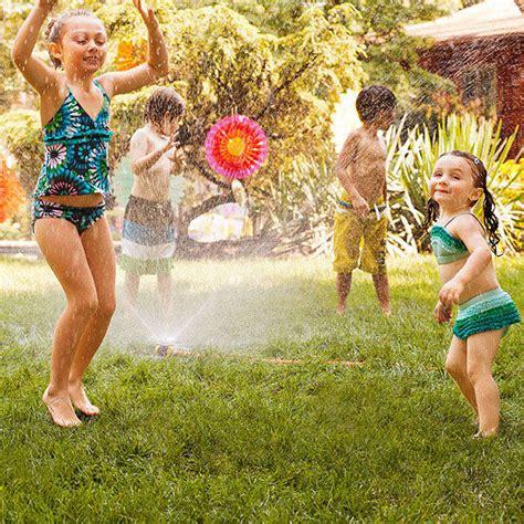 backyard water birthday party outdoor splashing birthday party